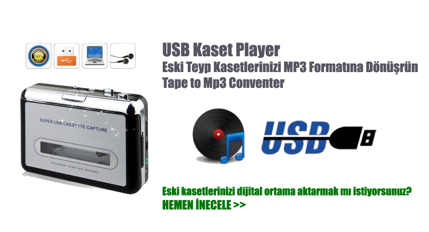 Eski Teyp Kasetlerinizi MP3 Formatına Dönüşrün