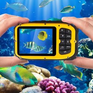 16MP 2.7 inch LCD Ekranlu Su Geçirmez Mini Dijital Aksiyon Video Kamera Kamera DVR - 8X Dijital Zoom, Yüz Algılama