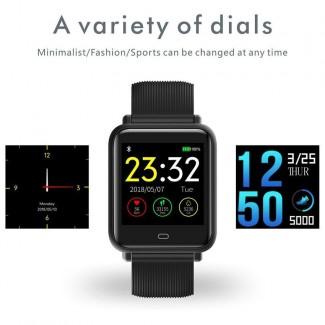 Su Geçirmez Q9 Sport Smart Akıllı Saat - SMA Band Fitness Takipçi, Kalori, Uyku, Nabız Kontrol