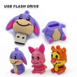 Sevimli Eşek Tigger Domuz Karikatür Tasarımlı USB Flash Bellek