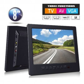 8 inch TFT LCD Renkli Ekran Analog TV / Video Monitör - VGA, TV, AV Girişi