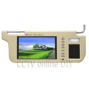 Araçlar için 7 inch Güneşlik DVD Oynatıcı Monitör - Geri Viter Kamera Desteği, 2 x Video Girişi, Sağ veya Sol