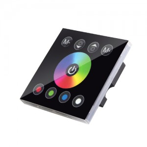 4 Kanallı Dokunmatik Panel Çok Fonksiyonlu RGBW Denetleyici - Otel, Ev Dekorasyonu için Duvara Monte Renk Ayarlayıcı