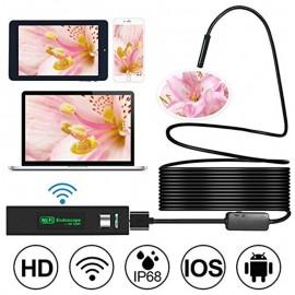 HD 1200P Wifi USB Endoskop Yılan Kamera - IP68 Su Geçirmez, Muayene için Yarı-sert Esnek Kablo (2m/5m/7m/10m)