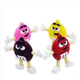 Karikatür M&M Bean Şeker Gökkuşağı Tasarımlı Anahtarlık USB Flash Bellek