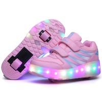 Çocuklar / Yetişkinler için Tekerlekli Kaykaylı Şarjedilebilir 7 ColorMix Led Spor Ayakkabı - Çocuklar için LED Ayakkabı