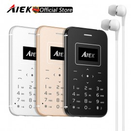 AIEK/AEKU X8 Ultra Ince Cep Telefonu - Kredi Kartı Boyut, Micro SD Kart Desteği