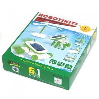 6 in 1 Solar Robot Eğitim Seti (Güneş Enerjili Robot Yapın)