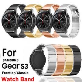 Samsung Gear S3 Frontier / Classic SmartWatch için Pazlanmaz Çelik Saat Kordonu Kayış - Metal Toka