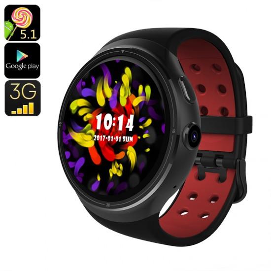 Z-10 3G Android 5.1 Saat Telefon - 16GB Hafıza, GPS, Quad Core CPU, Google Play, Sim Kart Destekli, Bluetooth, En iyi ve En ucuz
