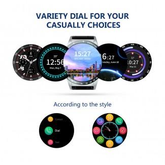 3G WCDMA 1.39 inch AMOLED Ekran Android 5.1 OS Smart Akıllı Kol Saati Telefon - 4GB ROM, Wifi, GPS, Bluetooth, Heart Rate, Adım Sayar, Su Geçirmez