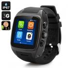 iMacwear 1.54 inch Ekran 3G Android 5.1 Smart Akıllı Kol Saati Telefon - IP67 Su Gerçirmez, GPS, Wifi, Dual Core CPU