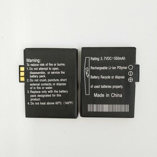 GV18 GV19 Akıllı Saat için Orijinal Li-ion 550mAh 3.7V Batarya - GV18 GV19 Smart Watch Bataryası