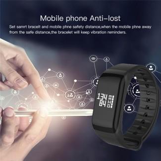 Unisex IP67 Sugeçirmez Fitness Tracker Bileklik - Nabız Ölçer, Mesafe Sayacı, Pedometre, Kan Basıncı