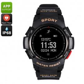No.1 F6 Bluetooth Smartwatch Akıllı Kol Saati - Nabız, Adımsayar, IP68 Su Geçirmez, Android ve iOS Uyumlu