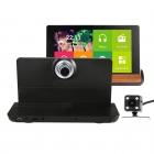 7 Inch 1080P HD Geri Görüş Kameralı Android Akıllı Sistem GPS Navigasyonlu Araç Video Kaydedici DVR - Wifi, Dokunmatik