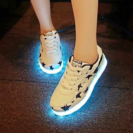 7 Renkli ColorMix LED Işıklı Fashion Unisex Spor Ayakkabı - USB Şarjedilebilir, Bay ve Bayan için