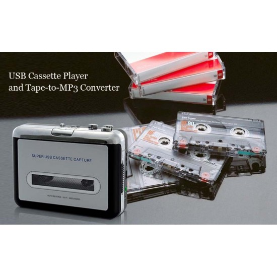 USB Kaset Player - Eski Teyp Kasetlerinizi MP3 Formatına Dönüşrün - Tape to Mp3 Conventer