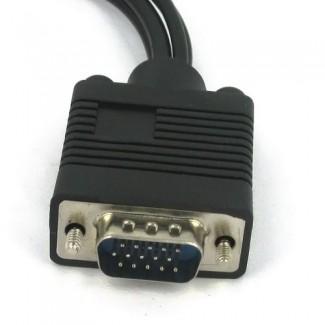 PC Video için VGA Adaptör to TV S-Video RCA Çıkış Kablosu - VGA girişini S-Video ya Çevirin