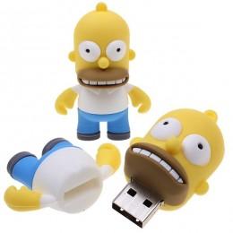 8GB Taşınabilir Karikatür Homer Simpson Şekilli USB Flash Sürücü Bellek