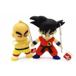 Sevimli Karikatür Goku ve Kuririn Anahtarlık Şeklinde USB Flash Bellek - Hediyelik, Yüksek Hafıza