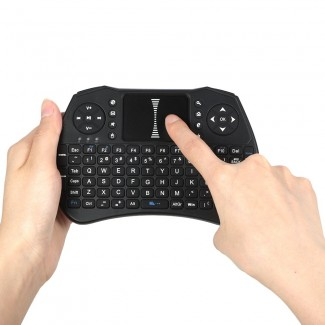 92 Tuşlu QWERTY 2.4GHz Wireless Keypad Klavye - Kablosuz, Dokunmatik Touchpad, Oyun Kontrolü, 1020mAh Batarya