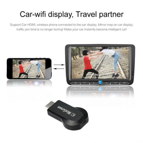 MiraScreen WIFI HD HDMI 1080P Receiver Alıcı Adaptör - TV Stick, Miracast, DLNA, Airplay