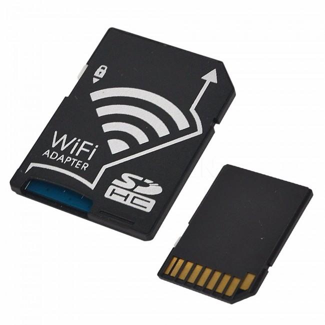 WiFi Kablosuz Micro SD TF Kartı SD Kart Adaptörü - Akıllı Telefonlar, Tablet, PC, Kamera için