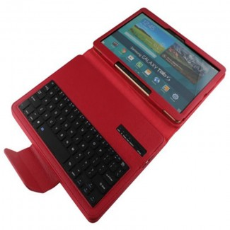"""Samsung Galaxy Tab S 10.5"""" için Çıkarılabilir Bluetooth Klavyeli Kılıf - (T800, T801, T805 Serileri)"""