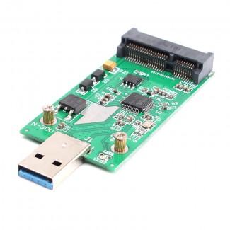 Mini USB 3.0 dan PCIE mSATA External SSD PCBA ya Dönüştürücü Adaptör