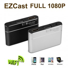 MiraScreen 1080P HD Video Dönüştürücü Kablosuz Ekran Paylaştırıcı Adaptör - VGA, HDMI Dongle, Miracast, Airplay, DLNA