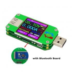 RD UM24-C USB 2.0 Renkli LCD Ekran Test Cihazı - Voltaj Akım Ölçer, Voltmetre, Ampermetre, Akü Şarj Kablosu Empedans Ölçüm