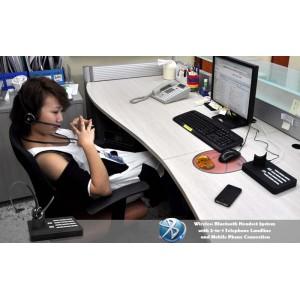 Handsfree Bluetooth Kulaklık Sistemi (2 in 1 Sabit Telefon ve Mobil Telefon Bağlantısı)