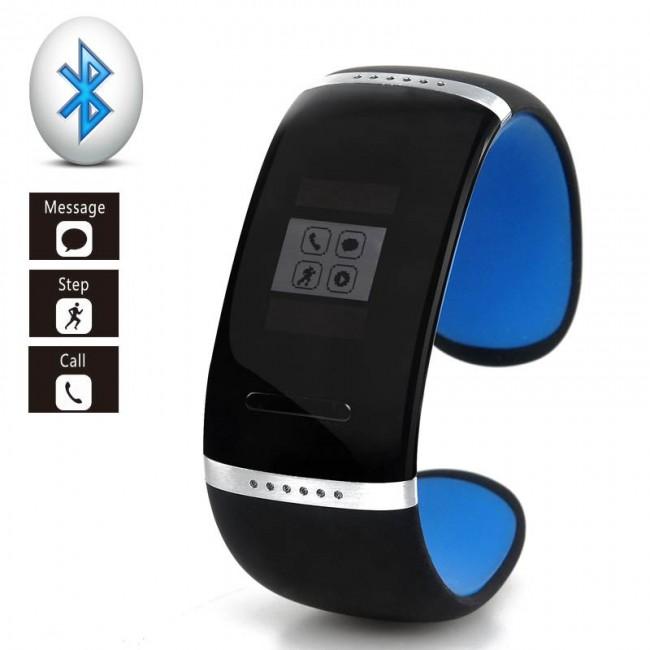 Akıllı Bluetooth V3.0 Bileklik Saat - Android Telefonlar için, OLED Dokunmatik Ekran, SMS / Rehber Sync, Adımsayar