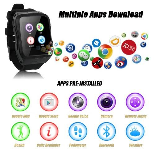 ZGPAX Wifi GPS 3G WCDMA Quad-Core Android 5.1 Kol Saati Telefon