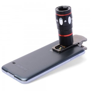 4 in 1 Optik 10X Zoom Lens Klipsli Teleskop Kamera - iPhone 6 / 6S / 6 Plus/ 6S Plus / iPad Mini Air / Samsung S6 / S7 / S7 edge / Akıllı Telefonlar, Tablet için