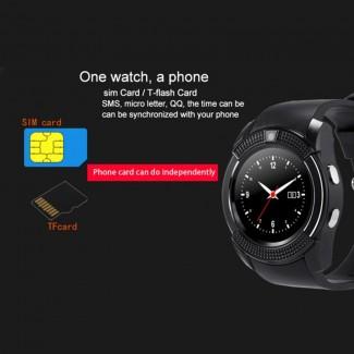Bluetooth UV8 SmartWatch Akıllı Kol Saati Telefon - GSM SIM, TF Kart, Android, iPhone Destekli, En Ucuz Akıllı Saat Telefon