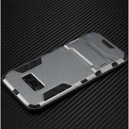 Samsung Galaxy S8 için PC Silikon Koruyucu Stand Arka Kılıf - S8 Aksesuarları