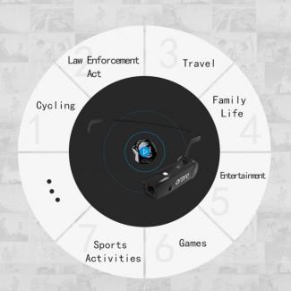 5MP FHD Kameralı Kablosuz Bluetooth Kulaklık - Hands Free Arama, HD Kayıt, Bluetooth 4.0