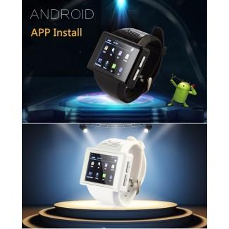 2 inch Dokunmatik Ekran Android 4.1.1 Akıllı Smart Kol Saati Telefon - Bluetooth, Wifi, GPS, FM, GooglePlay, Dual Core, 2MP Kamera