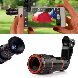 12X Zoom Cep Telefonu Lens Clip-on Teleskop Kamera -  iPhone 7 Plus 6S Plus Samsung S8 S7 Edge