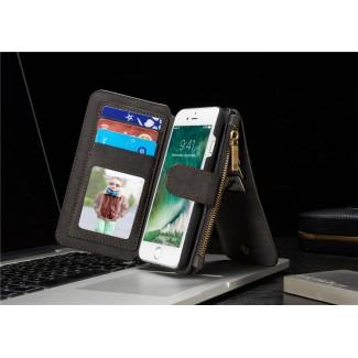 Apple iPhone 7 / 7S / 7 Plus / 7S Plus için Lux Hakiki Deri Cüzdan Kılıf - 7S / 7S+