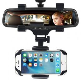 360 Derece Dönebilen Evrensel Araç Dikiz Aynası Telefon Tutacağı - Tüm Telefonlara Uyumlu