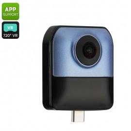 Andoroid Cep Telefonları için 1080p 360 Derece x 220 Derece Mini Panoramik Akıllı Kamera