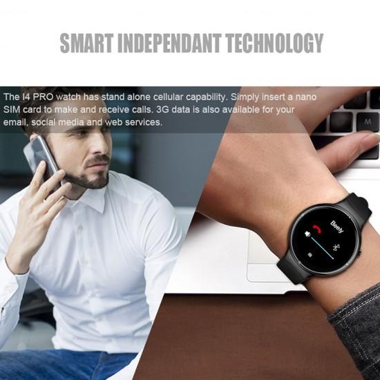 IQ I4 Pro Android 5.1 Kol Saati Telefon - SIM Kart, 2GB RAM, 16GB Hafıza, Bluetooth 4.0, WiFi, GPS, 3G, Adım Sayar, Nabız Ölçer
