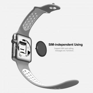 DW09 Plus 1.5 inch OLED Ekran Bluetooth 4.0 Akıllı Kol Saati Telefon - SIM kart Destekli, Sosyal Medya Bildirimleri, Applle iWatch Görünüm