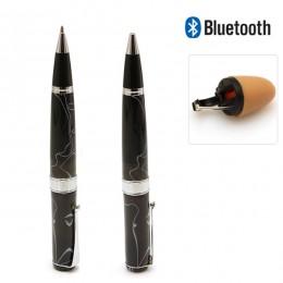 Cep Telefonları için Bluetooth Alıcı Tükenmez Kalem + Mini Kablosuz Casus Kulaklık Seti