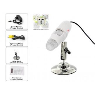 Video Çıkışlı 400X Zoom Dijital Mikroskop Kamera - 8 Led Işık