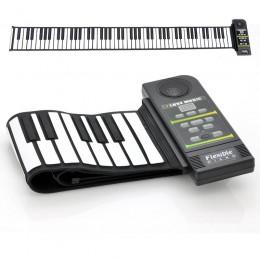 Flexible Roll Katlanabilir Esnek Synthesizer Klavye Piyano - Yumuşak 88 Tuş, Hoparlör