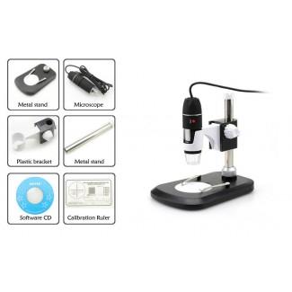 USB Dijital Mikroskop - 2MP CMOS Sensör, 40X-800X Büyütme, Fotoğraf + Video Desteği